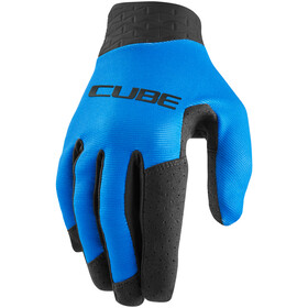 Cube Performance Long Finger Gloves, negro/azul